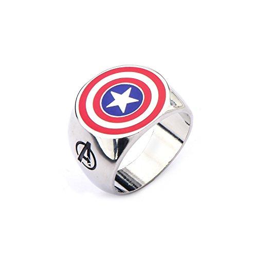 Marvel Avengers Captain America Stainless acier Bague