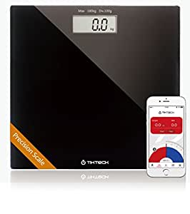 Bluetooth digital Smart body fitness weight analyse Scale with BMI Calculate Auto Step-On Technology Bathroom 180Kg 396LB App for iPhone and Android Devices wireless Tracking