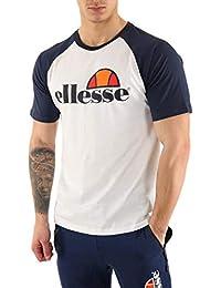 Ellesse T-Shirt H TMC Bicolore Blanc, Camiseta