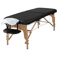 Sierra comodidad preferido Camilla de masaje portátil, color negro