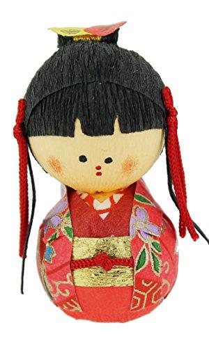 Tierra Zen KP2093 – Culbuto okiagari Hime Princesse, 4.5 x 3 x 4 cm, Couleur Rouge