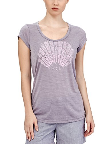 Icebreaker Spheria Scoop Sunrays T-Shirt de Randonnée Femme, Bracken Hthr, FR : S (Taille Fabricant : S)