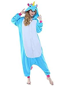 Cosplay Unicorn Pigiama Animali Unisex Pigiama Party Halloween Sleepwear Costume Cosplay Flanella Tuta S M L XL - LATH.PIN
