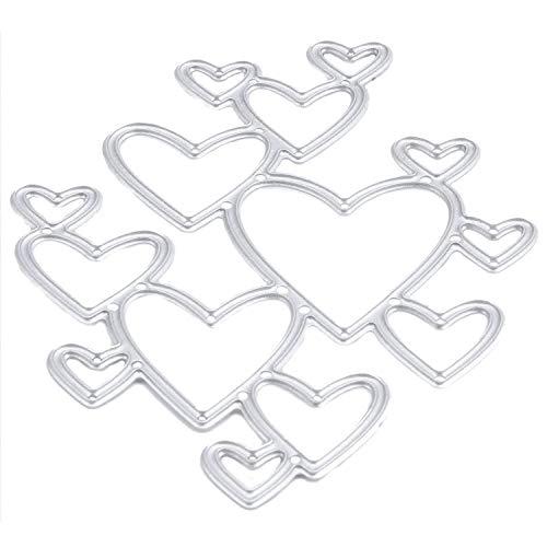 SeaStart Maschine aus Metall mit Stanzschablone, Herz, Plakette, Bastelalbum, Dekoration, Dichtung für Handwerk, Matrixschablone