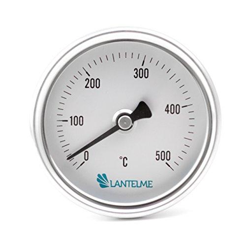 Lantelme 4325 Waterproof / 500�C Oven / Tandoor / Smoker / Bimetal Thermometer
