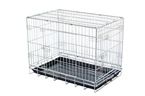 """30"""" strong dog cage black powder coated by Doghealth"""
