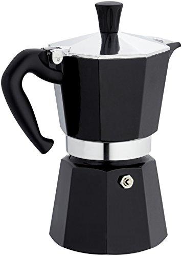 Bialetti Moka Express Espresso Maker, Black Lacquer, 6 cup
