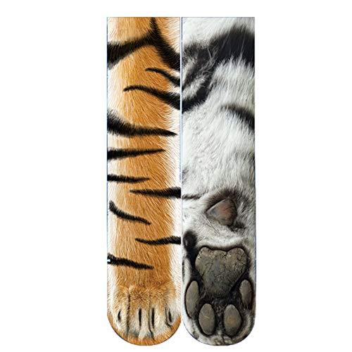 5-Packs 3D Print Tier Füße Socken Sublimated Neuheit Lustige Socken, Unisex Erwachsene Baumwolle Klar Und Lebendige Socken Für Tier Füße Socken Männer Und Frauen,8