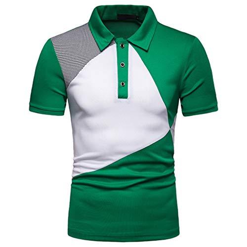 402c5342faa5b4 Moserian Herrenhemden Mode Kurzarm Splicing Malerei Große Größe Casual Top  Bluse Shirts