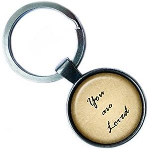 You are Loved Silver Keychain Silber Schlüsselanhänger