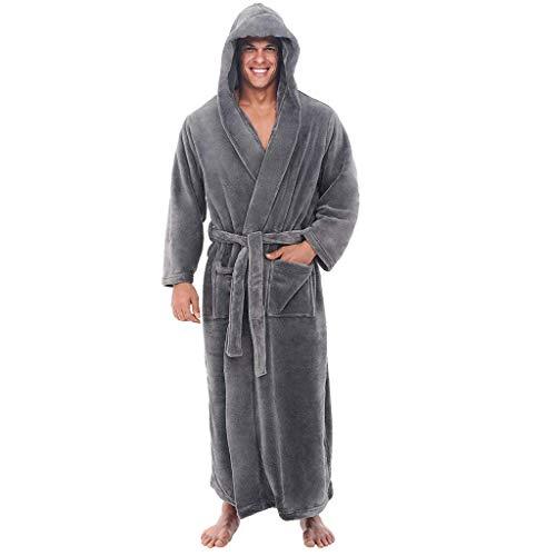 POLP Albornoz Hombre Unisex Casa Albornoz Hombre Ducha Bata de Baño Ropa de baño Pijamas de una Pieza...