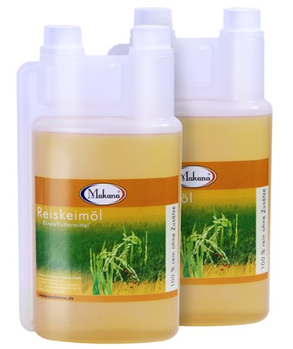 Makana Reiskeimöl für Tiere, Dosierflasche, 2er Pack (2 x 1 L)