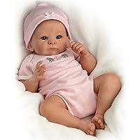 Ashton Drake - Garbancita - Muñeca bebé realista - Con peso real y completamente flexible - Piel de vinilo RealTouch