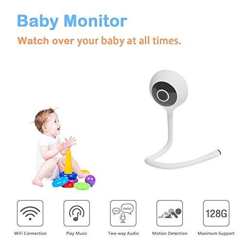 LLVV Babyphones Moniteurs pour bébé Smart Wireless WiFi 1080P Moniteur pour bébé