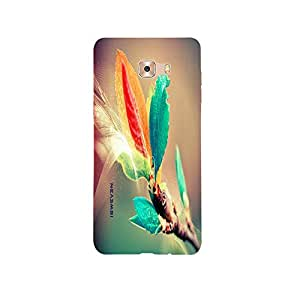 iSweven Leafy design printed matte finish back case cover for Samsung Galaxy C9 Pro