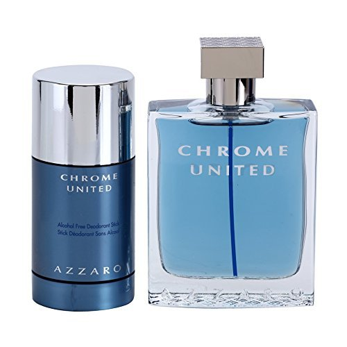 AZZAR0 Chrome United Eau de Toilette 100 ml + Deo Stick 75 ml im Set