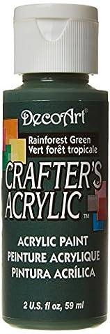 DecoArt 59 ml Crafters Acrylic, Rainforest Green
