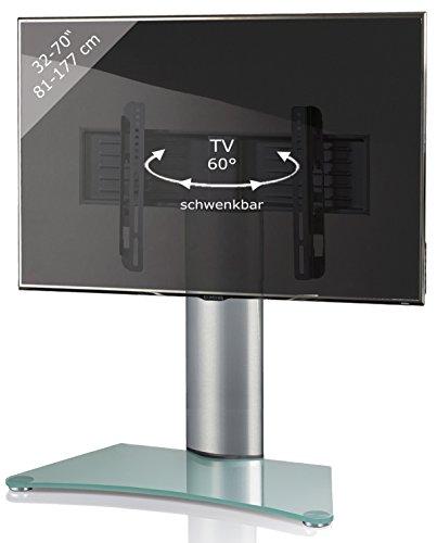 Universal Tischfuß (VCM TV Standfuß Tischfuß Fernseh Aufsatz Fuß Erhöhung schwenkbar drehbar Mattglas