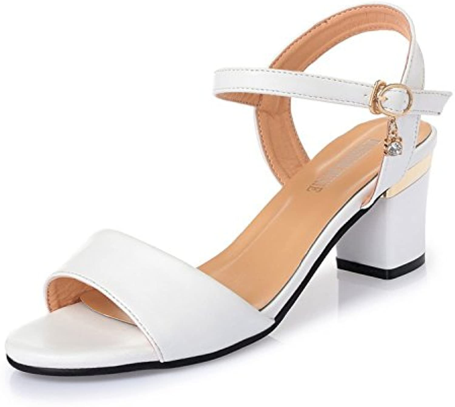 fdd7110186d GTVERNH Summer Sandals Women Middle-Aged With Bold Bold Bold Slotted  President Wild And 7Cm High-Heel Shoes Parent B07CRBYHJF ff1f9b