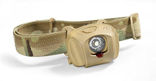 Princeton Tec Tactical EOS MPLS Maxbright LED-Stirnlampe mit austauschbaren Filtern, Multicam