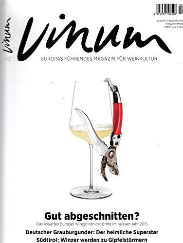 Vinum 1-2 2016 Europas Winzer Ernte Deutscher Grauburgunder Zeitschrift Magazin Einzelheft Heft