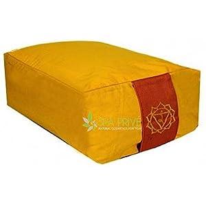 Meditationskissen Rechteckig Gelb Chakra 3 38×28×13 cm