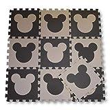2933278b990 Meitoku Alfombra de Goma EVA para niños con puzle. 10 alfombras de 30 x 30 x  1 cm. Ratón Beige y marrón.