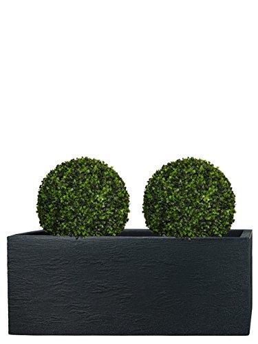 Pflanzwerk® fioriera vaso per fiori portavaso antracite plastica 27x80x30cm *resistente al gelo* *protezione uv* *europea di qualità*