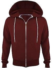 Mens plain Cord Fleece Full Zip Up Hoodie Sweatshirt Jumper Hoodie Zipped