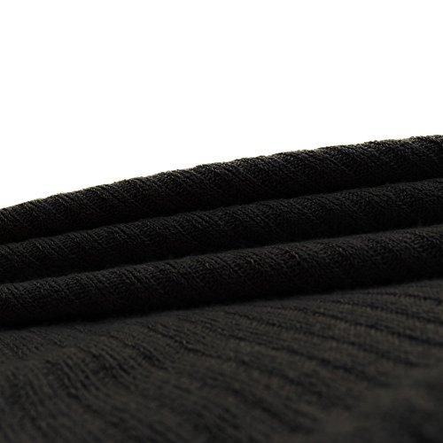 LAEMILIA Pull Femmes Hiver Chemisier Chemise Epaule Nue Manche Longue Blouse Pull-over Sweater Casual Tunique Hauts Shirt Noir