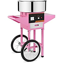 Chaneau Machine à Barbe à Papa Professionnelle 1000w Cotton Candy Machine Avec Chariot Machine à Barbe