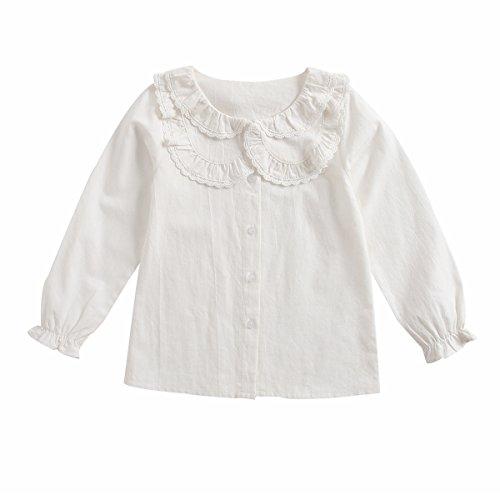 Sanlutoz Spitze Mädchen Hemden Prinzessin Mode Kinder Kleidung Schöne Kinderkleidung (5-6 Jahre / 120cm, KTW7147)
