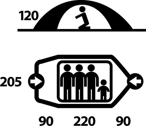 Husky FIGHTER 3-4 Extrem Zelt für 3-4 Personen Rot - 3