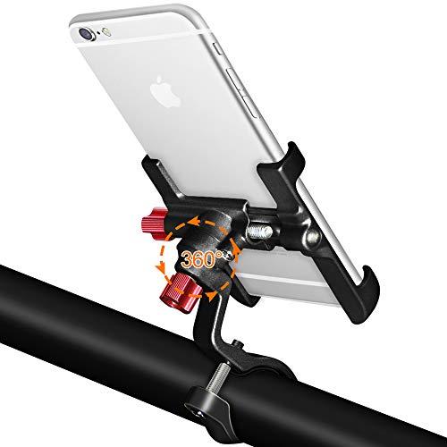 Enoneo supporto bici smartphone 360 gradi universale supporto telefono bicicletta alliage d'aluminium porta cellulare bici per moto mtb iphone samsung huawei (larghezza 2.16-3.74