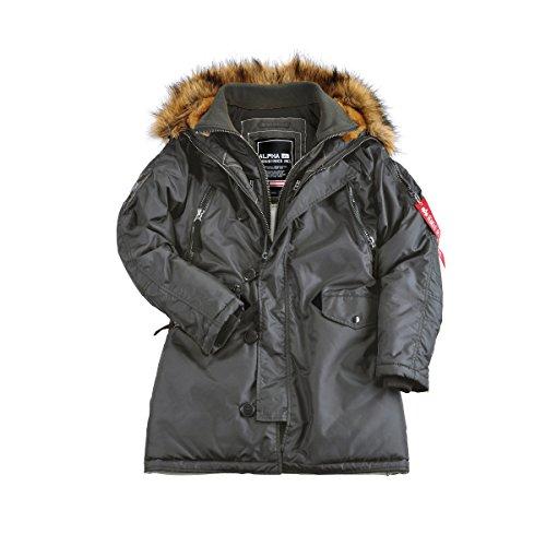 Alpha Industries Damen Jacken / Winterjacke PPS N3B Greyblack