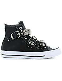 competitive price 65085 07821 Converse Chaussures Femme Baskets All Star Noir Punk Metal Buckle  Automne-Hiver 2019