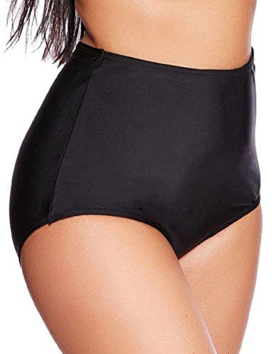 Trendige Damen Schwimm - Strand Bademode Badeslip Bikinihose Slip Badehose Panty Bauchweg Slip verschiedene Varianten Größen f5417 Bauchweg Slip S18(sw)