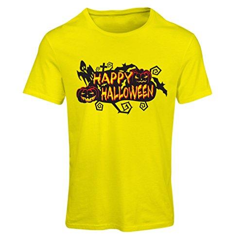 Frauen T-Shirt Owls, Bats, Ghosts, Pumpkins - Halloween outfit full of Spookiness (XX-Large Gelb (Hillbilly Kostüm Frauen)