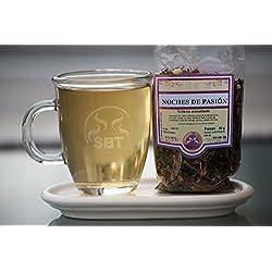 SABOREATE Y CAFE THE FLAVOUR SHOP Té Blanco Pai Mu Tan Granel Hojas Hebra Noches de Pasión Infusión Natural Adelgazante 50 gramos