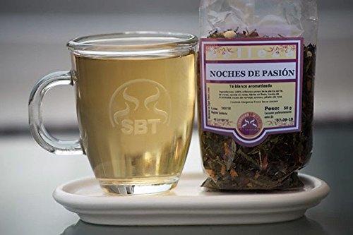 Tè Pai Mu Tan bianco notte di passione in Hebra saboreateycafe 50 grammi. - Sapore delicato - - 100% primi germogli della pianta del tè, tè verde, cannella, citronella, pezzi di mandorla, pezzi di arancio, aromi, petali di rosa antiossidant
