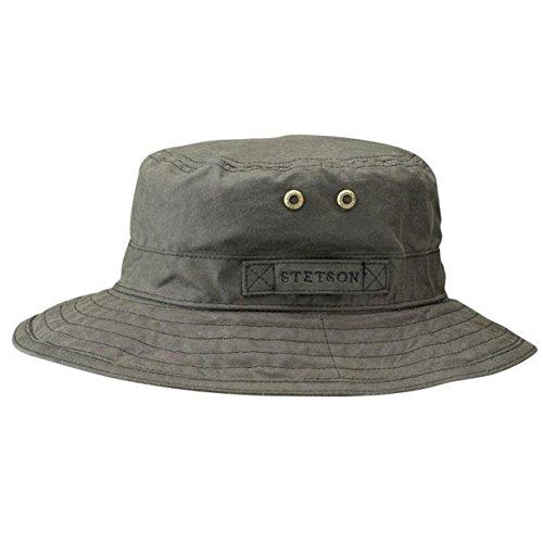 atkins-cappello-da-pescatore-stetson-cappello-tascabile-cappello-oilskin-m-56-57-oliva