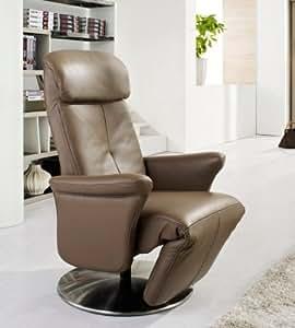 Fauteuil de relaxation manuel cuir Eve