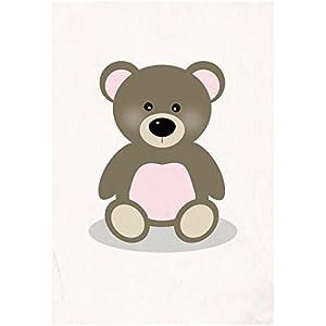 Postkarte Dreamchen Kinderzimmer Deko Teddy Oskar