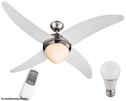 Couvercle ventilateur télécommande Kit d'éclairage comprend 7 watt LED Ampoules