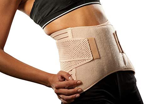 Hochwertige Rückenbandage/Rückenstütze LOREY-LU04003; Materialmix Größe XXL