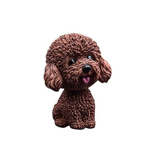 Bobble Tête de chien pour voiture Nicks Ornement Mini Bobble-Head Jouet de voiture Tableau de bord Nicks Chien pour voiture Décoration de décoration