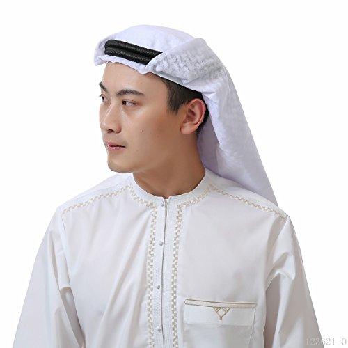 ftuch der Männer, islamische Print Schal Turban Kopfbedeckung, muslimische Abdeckung Schals Hijab Schal Dubai Kopftuch Headwrap,EINWEG Verpackung ()
