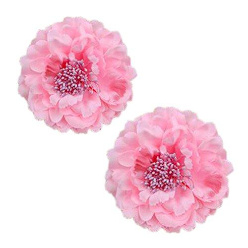 Décoration élégante de cheveux de clip de pin de cheveux de fleur 2PCS pour des dames, rose