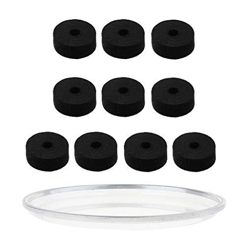 12-zoll-kissen (Almencla 10 Teile/Paket Becken Filz Hi Hat Unterlegscheibe Kissen Mit 12 Zoll Tom Drum Head Haut)