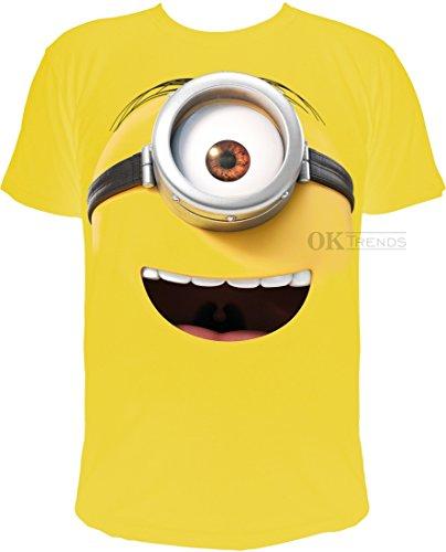 T-Shirt Minions: Stuarts lachendes Gesicht (S)